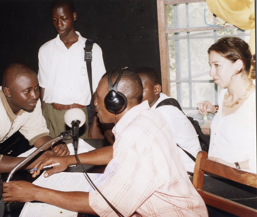 Artemis Christodulou (right) at National Vision for Sierra Leone Radio Show